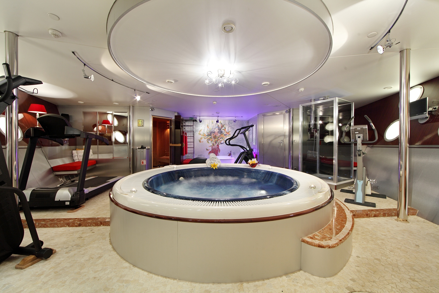 Luxury Home Gym Design Family Fitness as well Celebrity Home Gyms likewise Inside Atlantas Expensive Home With 11 Bathrooms Bedrooms Movie Theater SEVEN Kitchens Youd Leave together with Amazing Home Gyms furthermore The Palace Of The Lost City. on luxury home gyms