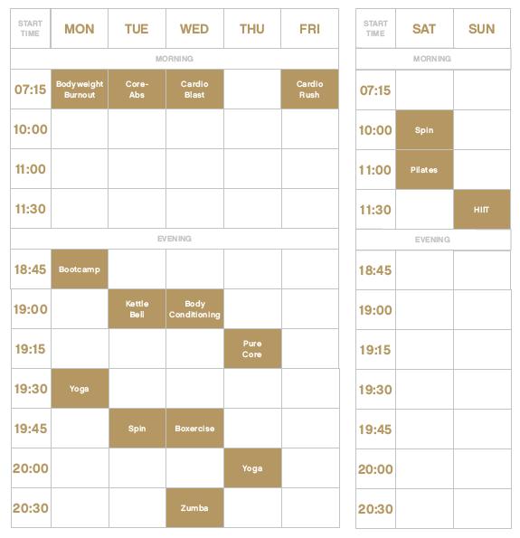 Classes timetable - Bow Quarters