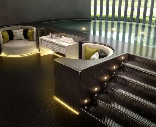Gym and spa design interior designers